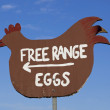 Stock Photo: Free range egg sign