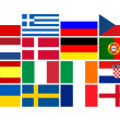 National team flags European football championship 2012 — Stock Photo #7906014