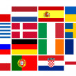 National team flags European football championship 2012 — Stock Photo