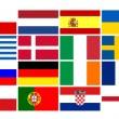 National team flags European football championship 2012 — Stock Photo