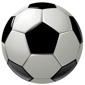 Black and white soccer ball or football — Stock Photo