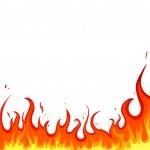 Fire - flames — Stock Vector