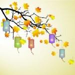 Autumn branch — Stock Vector #7175093