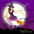Royalty-Free Stock Vector Image: Halloween witch