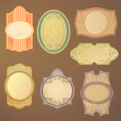 Vintage vector labels — Stock Vector