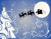 Noel baba çabukluğu üzerinde — Stok Vektör