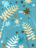 Estilo grunge floral — Vetorial Stock