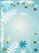 çiçekli grunge tarzı — Stok Vektör