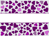Renkli kalpler — Stok Vektör