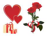 Valentines elements — Stock Vector