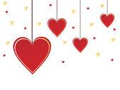 Coeurs de la saint-valentin — Vecteur