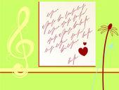 Valentines brief — Stockvektor