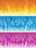 Set of fire backgrounds — Stock Vector