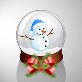 Snow dome — Stock Vector