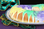 Kings Cake for Mardi Gras — Stock Photo