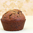 One Pumpkin Chocolate Chip Muffin Macro — Stock Photo