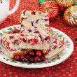 Stock Photo: Christmas Plate of Cranberry Nut Cookies