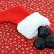 Christmas Stocking with Coal — Stock Photo #7565191