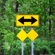 Stock Photo: Two way arrow sign.