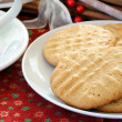 Peanut Butter Cookies and Coffee — Stock Photo