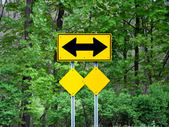 Two way arrow sign. — Stock Photo