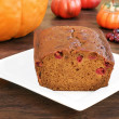 Pumpkin cranberry bread — Stock Photo