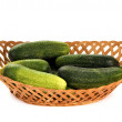 Royalty-Free Stock Photo: Fresh Fresh cucumbers on white background