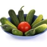 Fresh vegetables on white background — Stock Photo #6841889