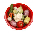 Fresh vegetables on white background — Stock Photo #6842788