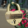 Stock Photo: Padlocks in the shape of a heart
