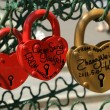Padlocks in the shape of a heart — Stock Photo #6843609