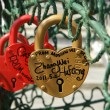 Padlocks in the shape of a heart — Stock Photo