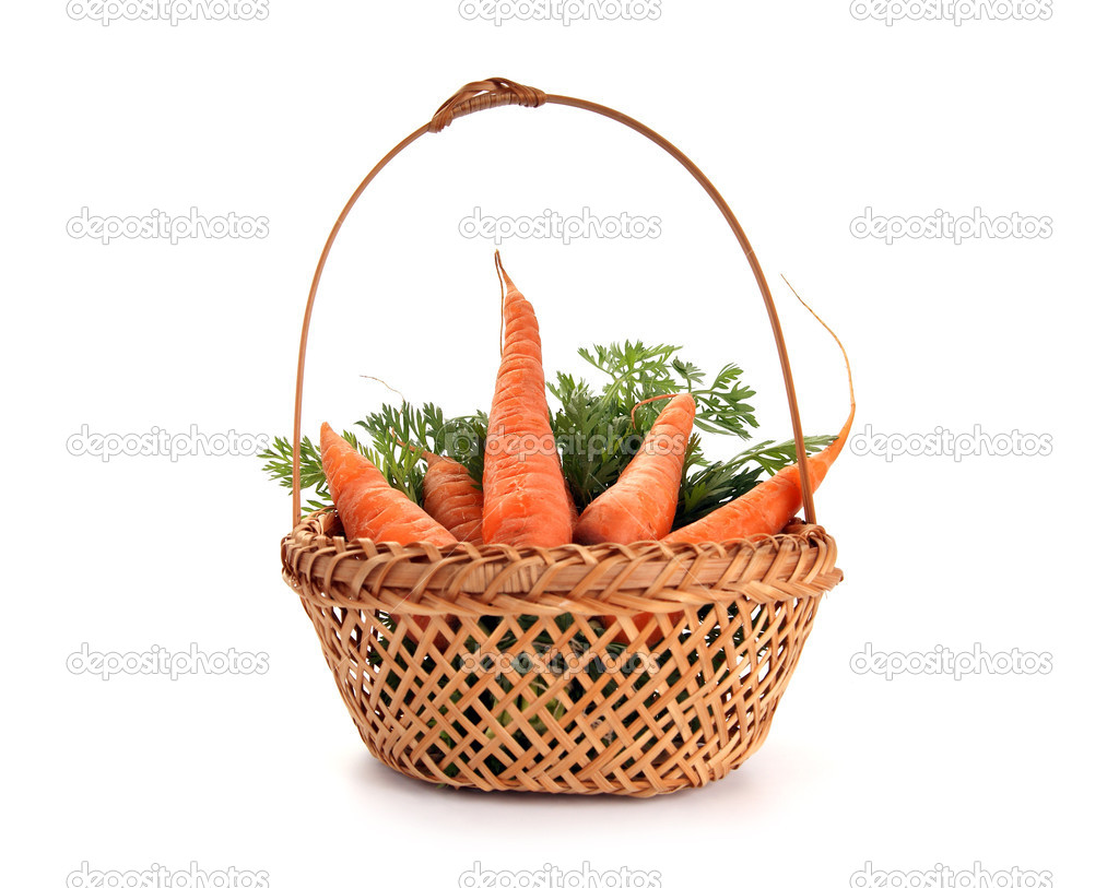 Fresh carrots on white background — Stock Photo #6841826