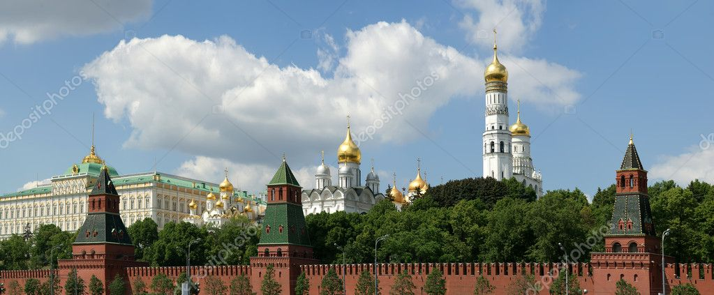 Russia, Moscow. Panoramic view of the Kremlin — Stock Photo #6842352