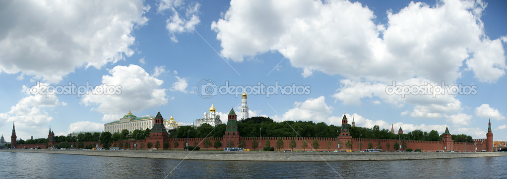 Russia, Moscow. Panoramic view of the Kremlin  Stock Photo #6842637