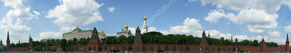 Russia, Moscow. Panoramic view of the Kremlin — Stock Photo #6842838