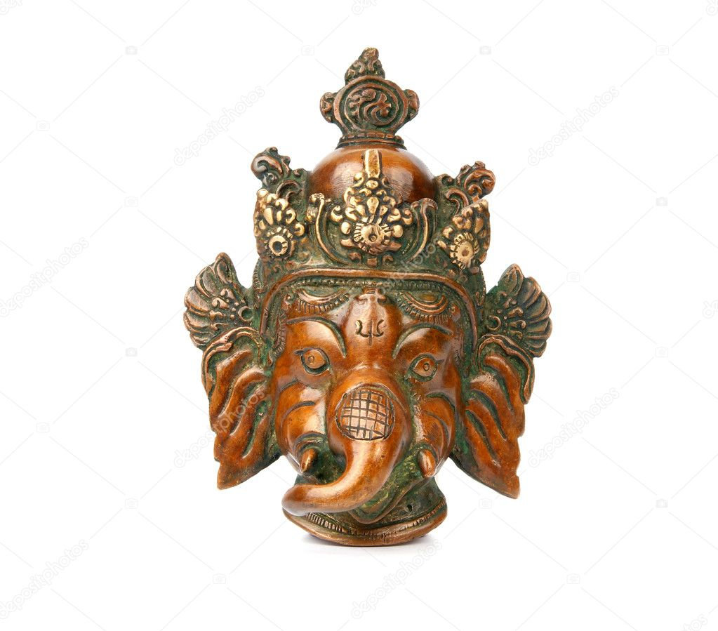 Ganesha from Copper from India — Stock Photo #6843093