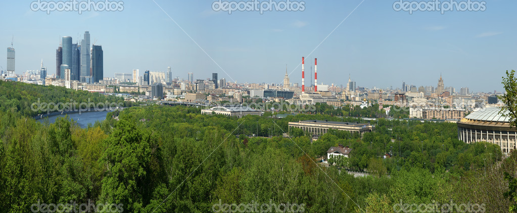 Panoramic view of Moscow (Russia) from Sparrow Hills  Stock Photo #6844476