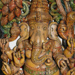 Wooden sculpture of Ganesha, Hindu God of Success — Stock Photo #7802763
