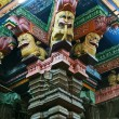 Inside of Meenakshi hindu temple in Madurai, South India — Stock Photo