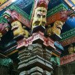 Inside of Meenakshi hindu temple in Madurai, South India — Stock Photo