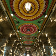 Stock Photo: Inside of Meenakshi hindu temple in Madurai, Tamil Nadu, India