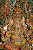 Wooden sculpture of Ganesha, Hindu God of Success — Stock Photo