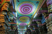 Ceiling Meenakshi Sundareswarar Temple in Madurai, South India — Foto Stock