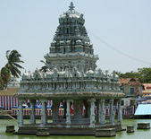 Suchindram temple.kanniyakumari, tamil nadu, sydindien — Stockfoto