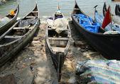 Boats on the ocean shore. Kerala, India — Stock Photo
