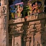 Inside of Meenakshi hindu temple in Madurai — Stock Photo