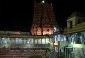 Innenseite des meenakshi-hindu-tempel in madurai, tamil nadu — Stockfoto