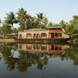 House boat in the Kerala (India) Backwaters - Stock Photo