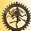 Indian hindu god Shiva Nataraja - Lord of Dance Statue isolated on white — Stock Photo #7875957